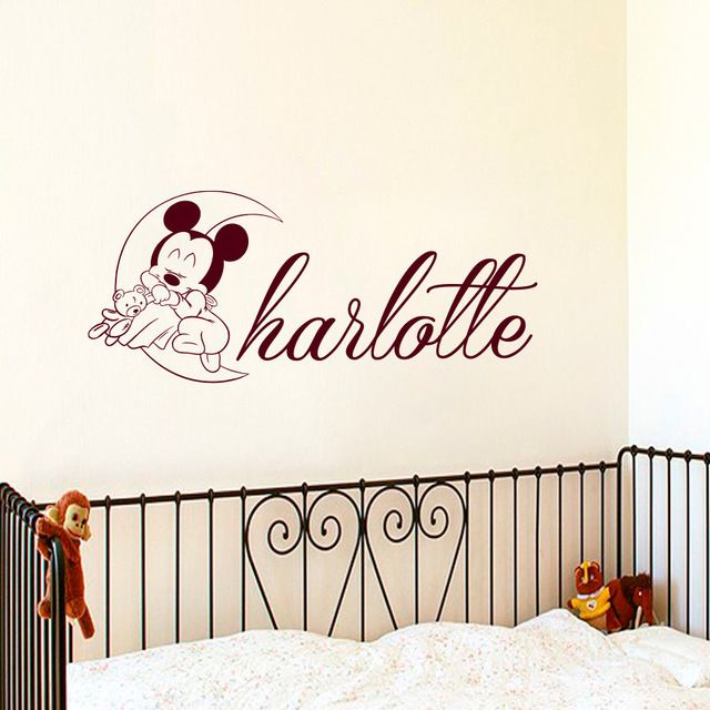 Best Mickey Mouse Wall Decals Ideas On Pinterest Minnie - Custom name vinyl wall decals   how to remove
