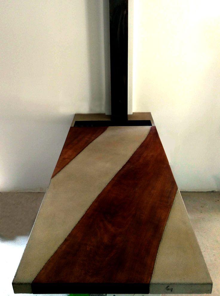 #ψονψρετε #concrete #handmade #taylormade #custom #design #causegreymatters #dining #table #wood #metal #grey #marron www.greymatters.gr