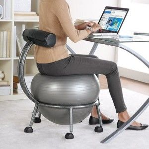 Best orthopedic office using a yoga ball chair sports health pinterest chairs the o - Stability ball for office ...