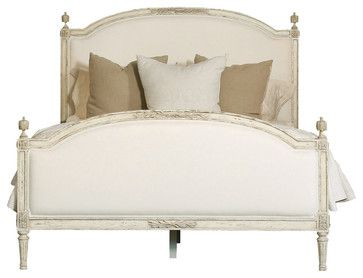 Eloquence® Dauphine Queen Bed in Weathered White, King farmhouse-panel-beds