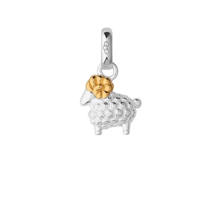 Sterling Silver & 18kt Yellow Gold Vermeil Chinese Zodiac Ram Charm