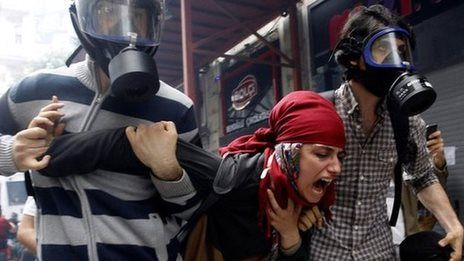 Turkish police tear gas protesters