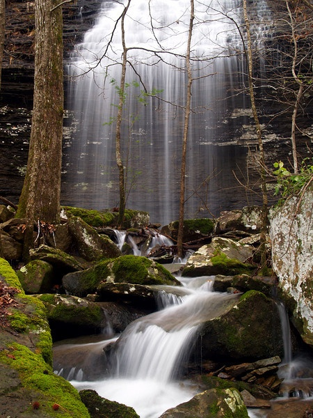 Bridal Veil Falls, near Heber Springs, Arkansas