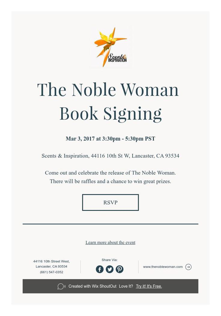 The Noble Woman   Book Signing