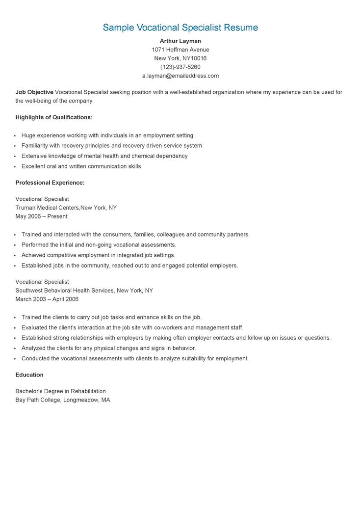 235 best resame images on Pinterest Website, Sample resume and - safety specialist resume