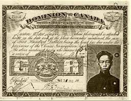 After the railway was finished being built the Chinese men had to pay a head tax.
