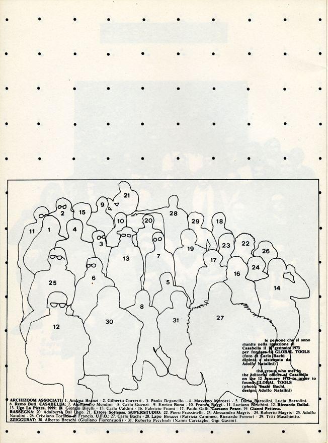Global Tools, Bollettino n.1, 1973-1974