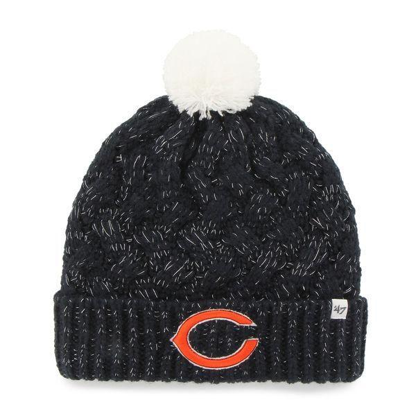 Chicago Bears Womens Fiona Cuff Pom Knit