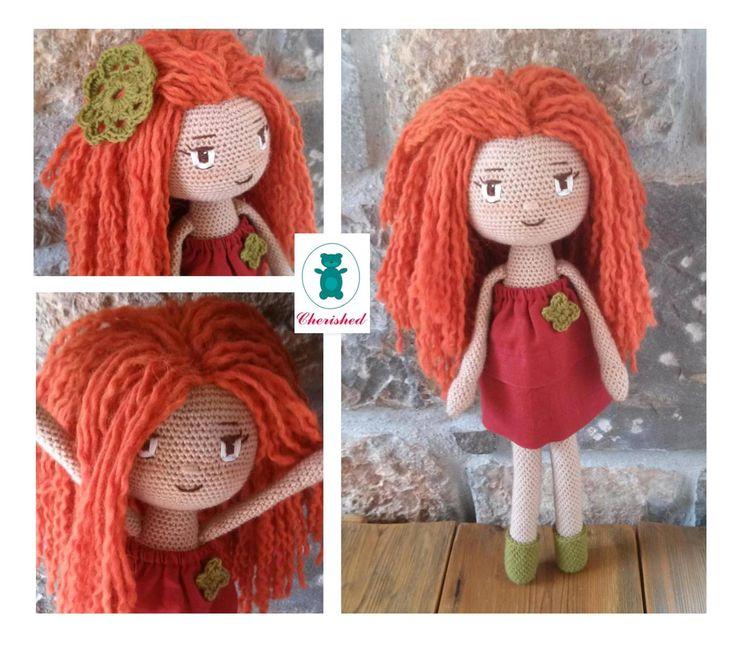 Lovely crochet redhead doll