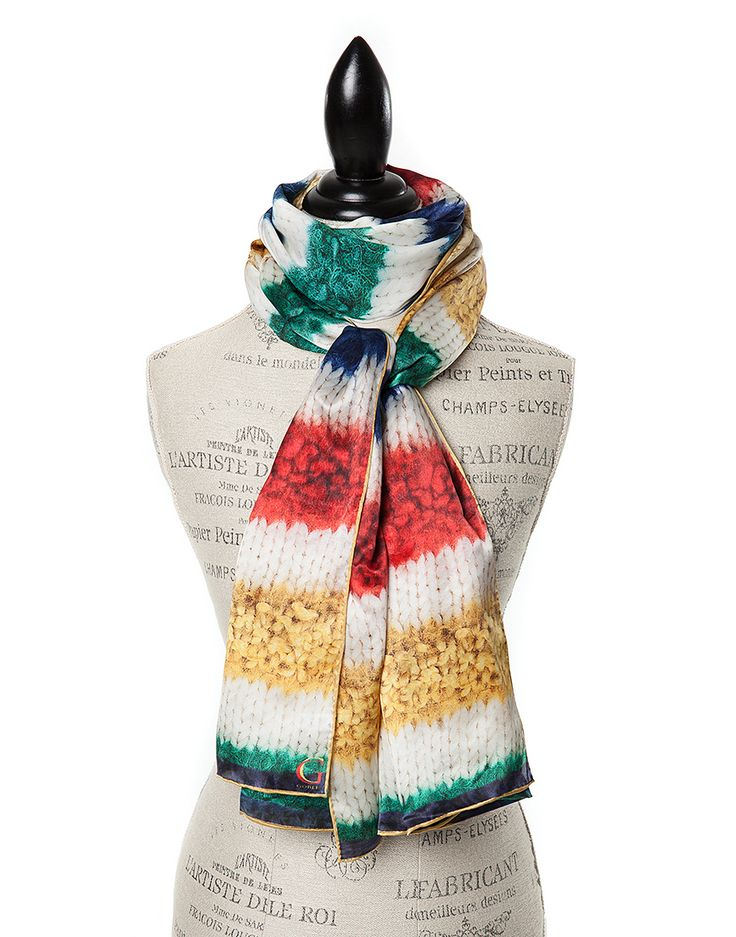 TO CELEBRATE CANADA'S 150TH YEAR in 2017, GŌBLE CREATED THE CANADIANA COLLECTION. SILK PRINT SCARVES FOR WOMEN in luxurious satin silk in Canadiana Arctic GŌBLE luxurious rectangular silk print scarves elevate any outfit with the grace and artistry of trompe l'oeil. GOBLE.CA