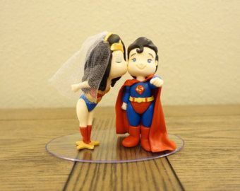 Wonderwoman Inspired with Superman Cake Topper by ChrissCrosses