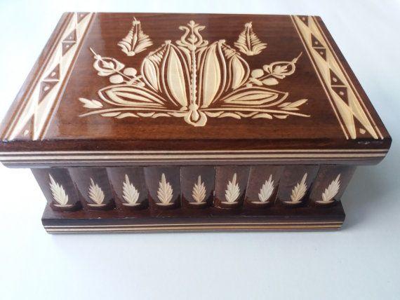 Nuovo grande, enorme marrone legno puzzle scatola segreta, scatola, scatola magica, contenitore di monili, caso di legno, unico regalo per la madre padre ragazzo ragazza