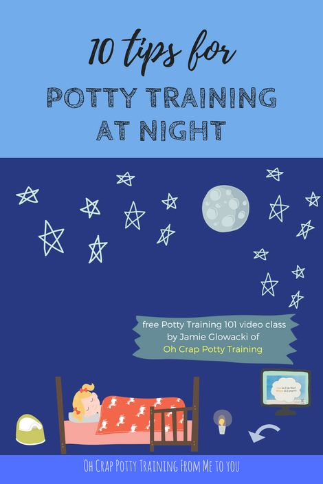 Your toddleris still in in pull-ups at night, and you're wondering how to go about yanking those diapers, here are 5 potty training nighttime tips.