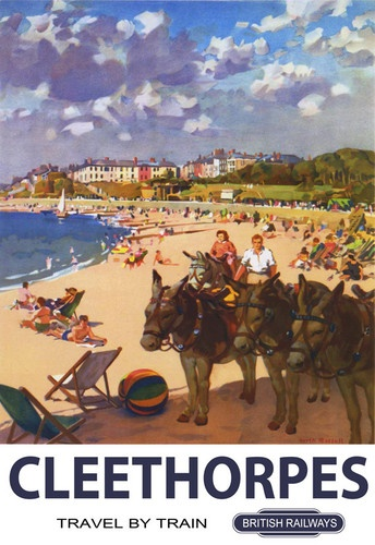 Cleethorpes Donkey British Railways A3 Poster