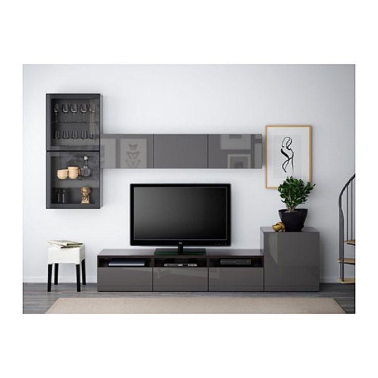 Ikea Living Room Sets Besta Series TV Storage Combination Of Glass Doors Hanviken Selsviken