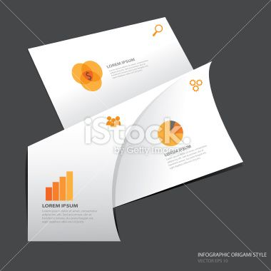 Infographic Origami Style - Vector Illustration
