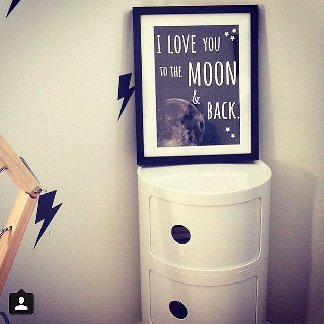 Love you to the moon & back custom print.