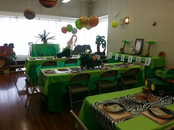 126 best images about garage set up on pinterest dance floors garage decorating and tablecloths - Deco table jungle ...