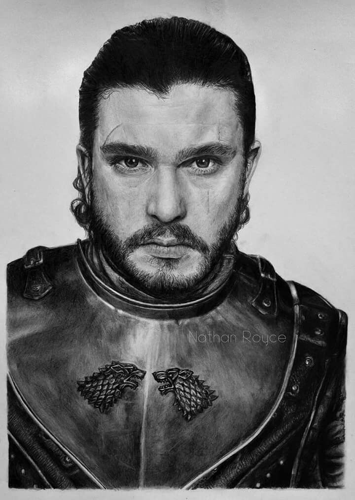 Jon Snow (Game of Thrones) realistic pencil drawing fine art portrait by Nathan Royce More at www.facebook.com/nathroyce