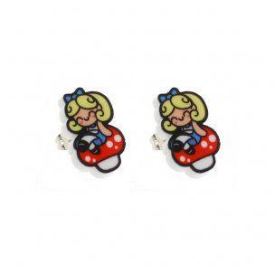 Alice on Toadstool Earring Studs