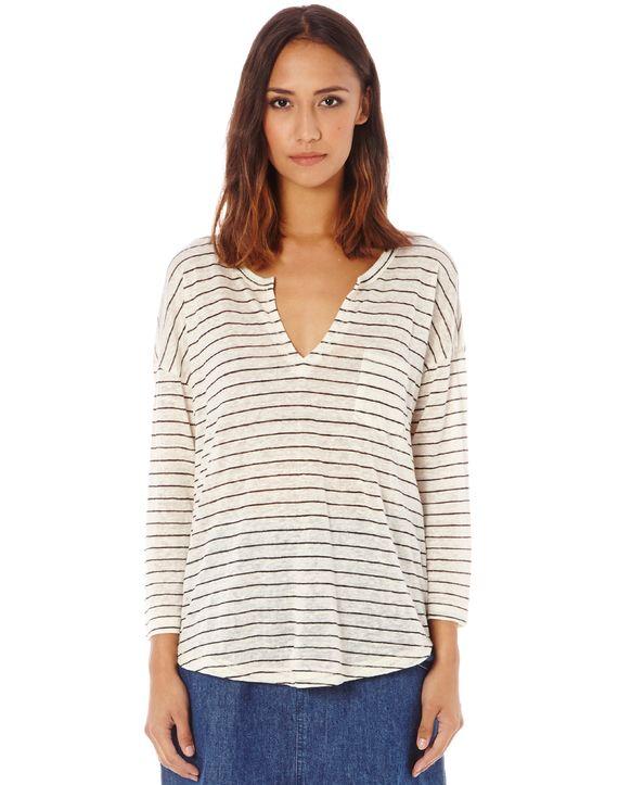 Stripe Linen Top