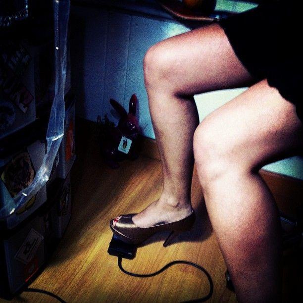 .high heel tattooing.