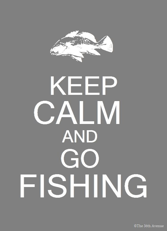 Keep Calm Go Fishing: Craft, Canvas Painting, Home Office, Father'S Day, Fathers Day, Dads, Xmas Gift