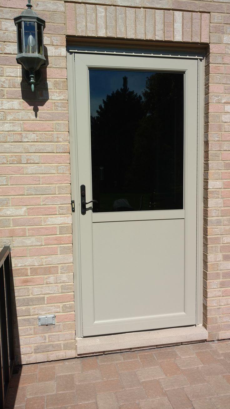 Preferred Window And Door Storm Door In Sandstone Doors Window Installation Storm Door