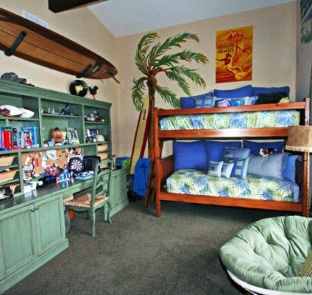 Beautiful Children Bedroom Bedding And Accessories In Tropical Kids Bedroom Design Ideas