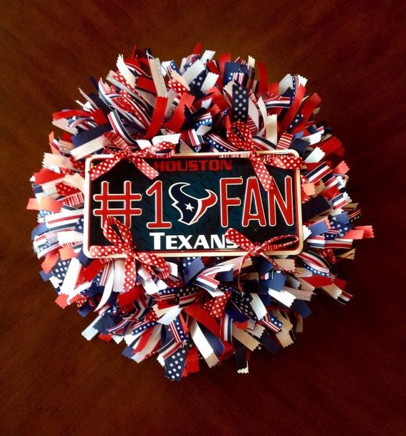 Houston Texans Ribbon Wreath by WhimsicalWreathsbyAL on Etsy
