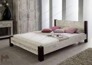 Bett - Massive Möbel aus der Serie CASTLE ANTIK. Mit weißem Wachs behandeltes Mangoholz verbindet sich mit dunkel lackierter Akazie. • Alle Produkte und Infos zur Möbel-Serie in unserem Onlineshop: www.massivmoebel24.de