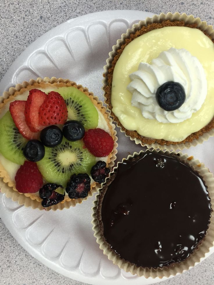 An assortment of tarts and pies