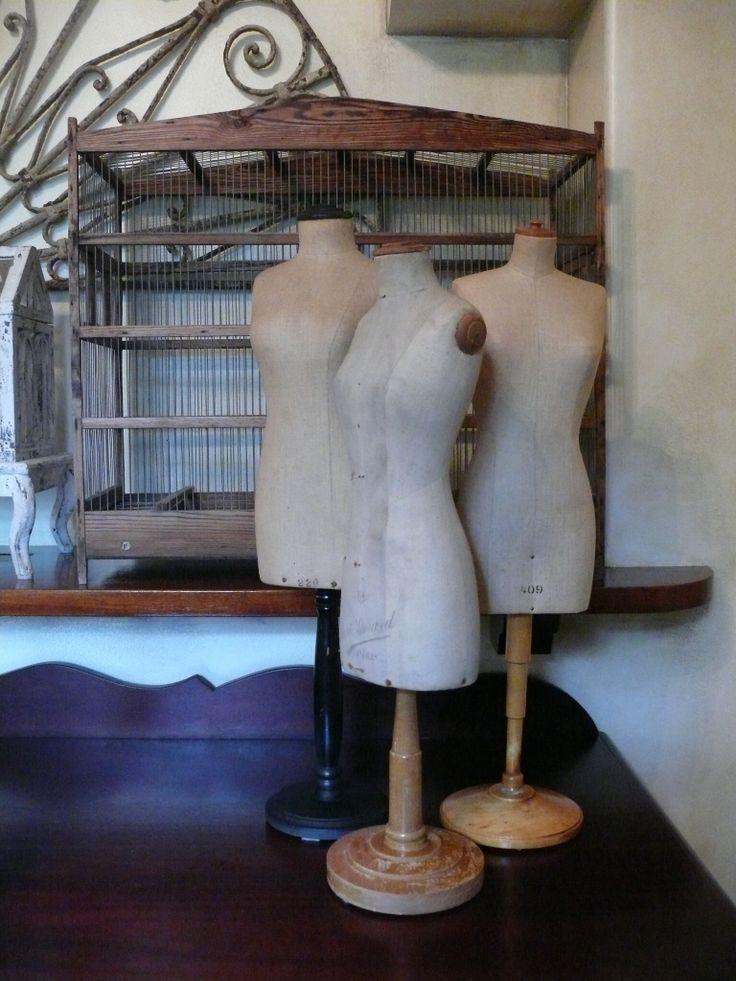 Miniature vintage dress forms