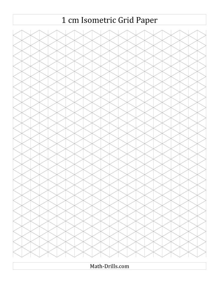 Free Isometric Paper Grid Paper Cm Square Printable Grid Papers