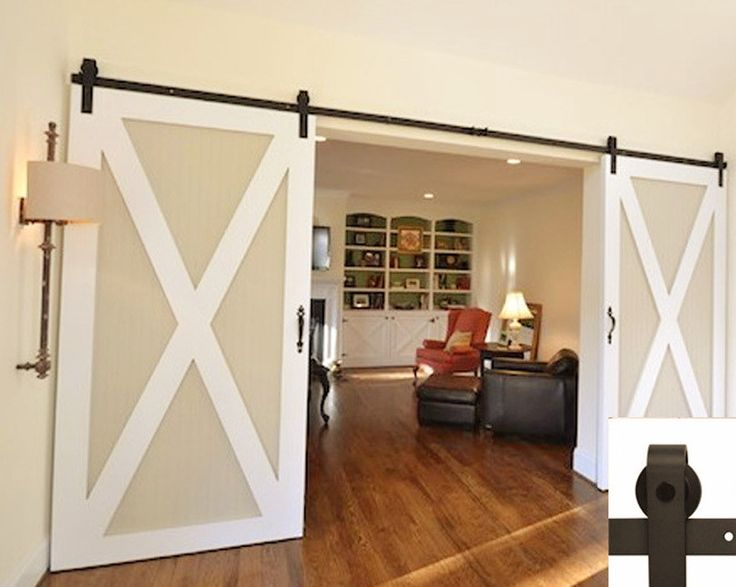 If you're in the market for a sliding barn door then you'll love the more modern, contemporary look hardware for your double doors. Made strong with a trendy look. Details: - Color: Coffee - Weight Ca