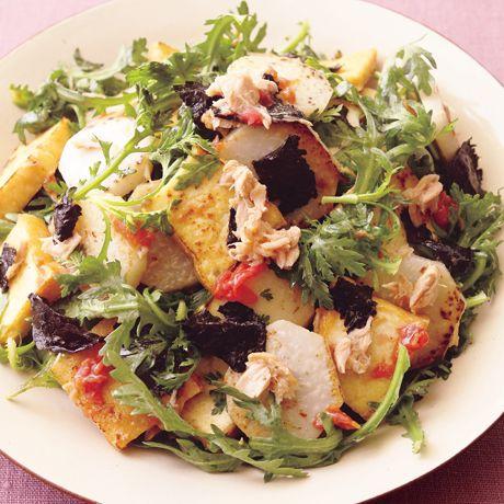 厚揚げと里いもの梅みそツナサラダ | 市瀬悦子さんのサラダの料理レシピ | プロの簡単料理レシピはレタスクラブネット