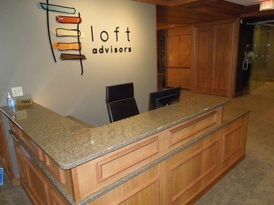This High End Custom Commercial Reception Desk Was Built