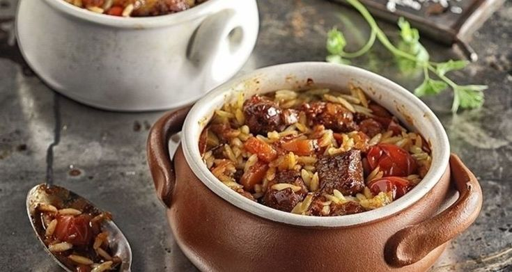 Lamb and Orzo Baked Stew