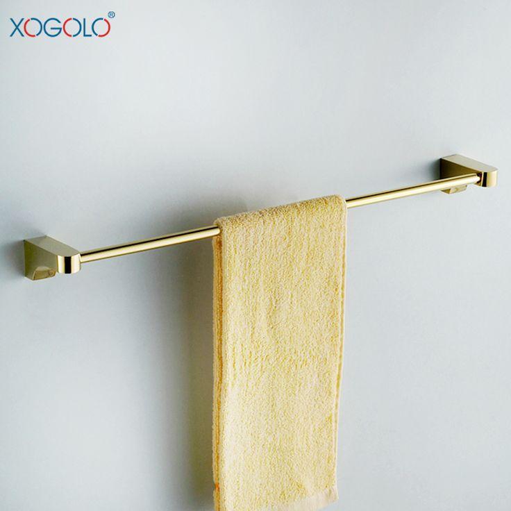 Дешевое Xogolo золотой ванная комната вешалка для полотенец один европейский широкий меди бар вешалка для полотенец ванной аппаратных аксессуаров 2124 специальное, Купить Качество Бамбуковые полы непосредственно из китайских фирмах-поставщиках:
