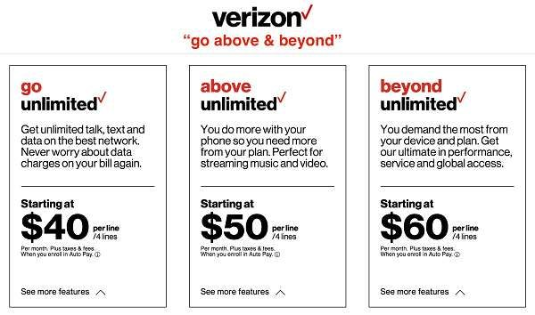 Cheapest Phone Plans With Unlimited Everything 2019 Verizon Unlimited Plans Cheap Phone Plans Phone Plans Cheap Phones