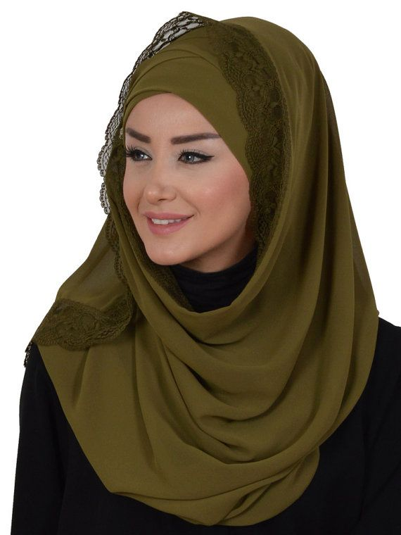 Chiffon Express Hijab Code:CPS-0025 Muslim Women by HAZIRTURBAN