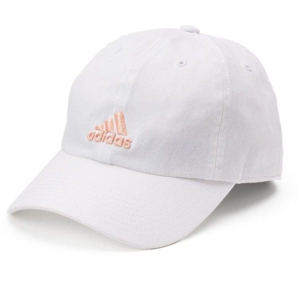Women's Adidas Saturday Cap ($15) ❤ liked on Polyvore featuring accessories, hats, white, adidas, logo cap, adjustable hats, adidas hats and adidas cap