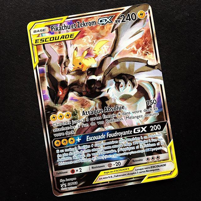 Pikachu Et Zekrom Gx Surement La Plus Belle Carte Promo Soleil Et Lune Pokemon Cartespokemon Pikachu Pokemonfr Carte Pokemon Carte Pokemon Pikachu Pokemon