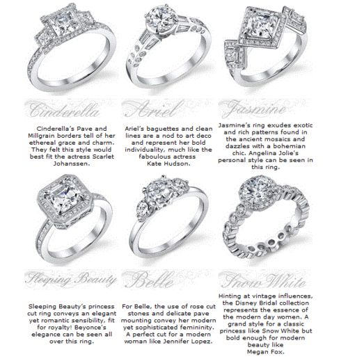 disney princess engagement rings i like ariel cinderella and snow white juli - Disney Engagement Rings And Wedding Bands