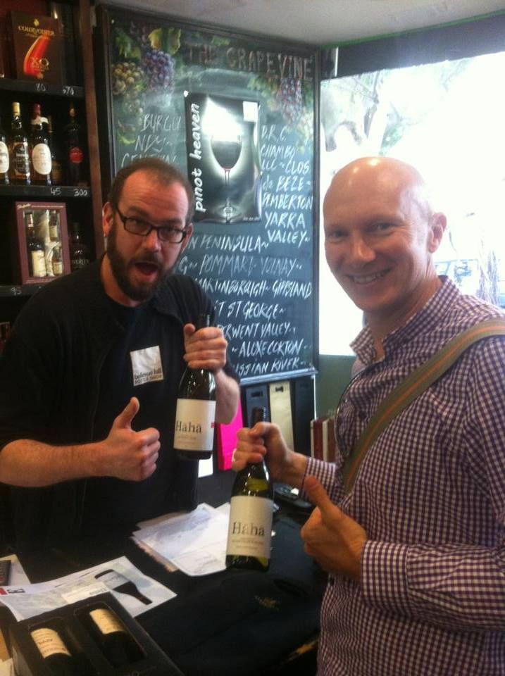 Bellevue Hill Bottle Shop manager Matt looking very excited about HaHa's range of wines. In store now. #bellevuehillbottleshop #bottleshop #wines #hahawine #haha