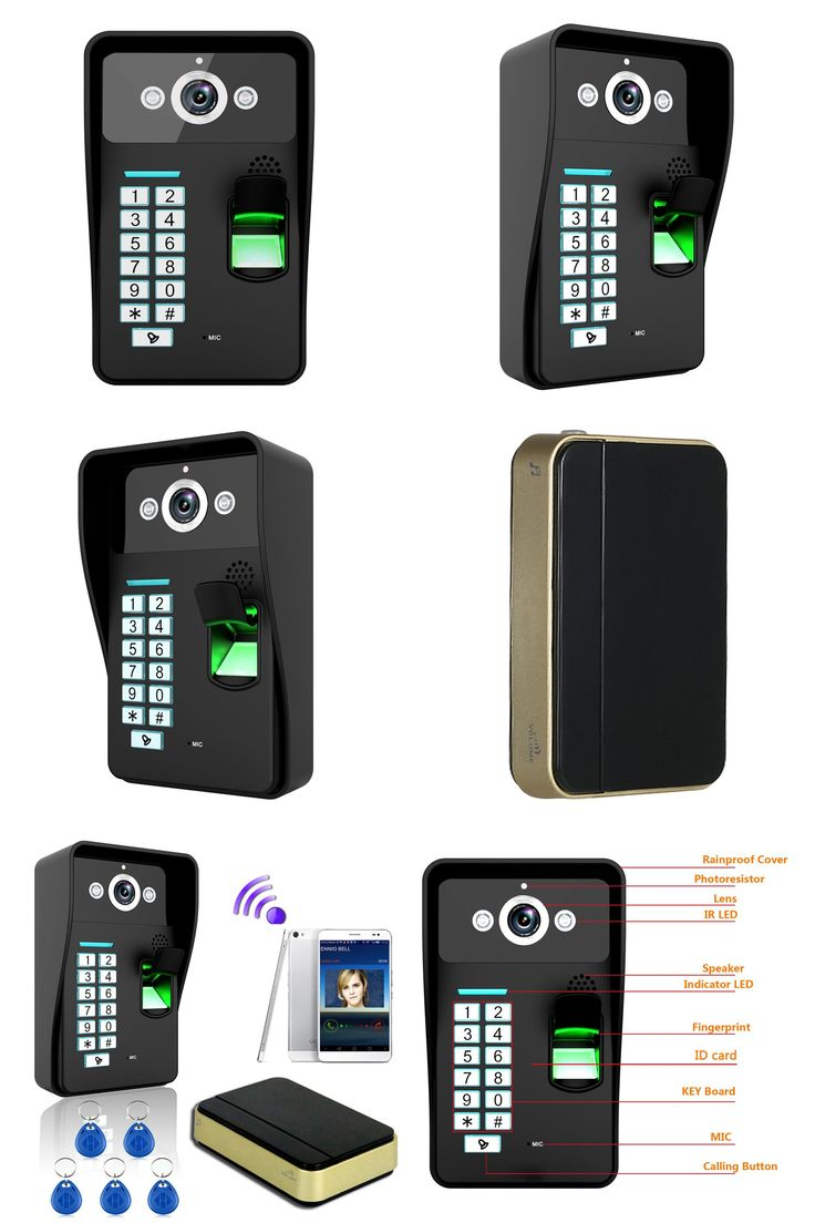 [Visit to Buy] Fingerprint Recognition WiFi Wireless Video Door Phone DoorBell Home Intercom System IR RFID Camera Support For Android IOS #Advertisement