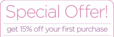 Use the welcome code 'welcome' to redeem 15% off your first purchase!