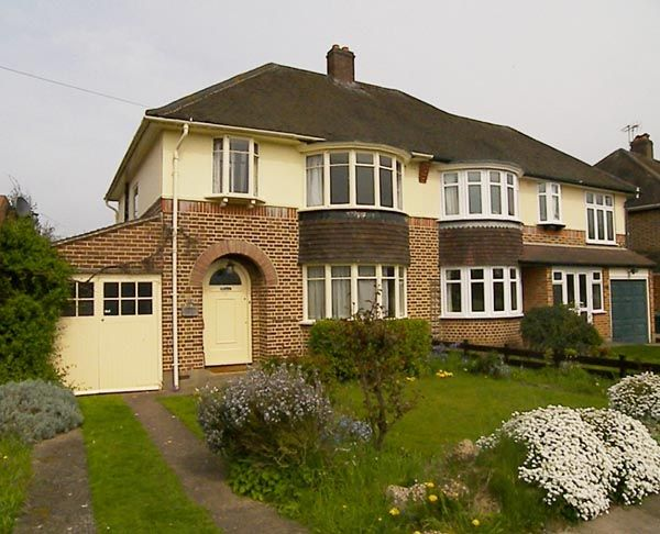 classic 1930s semi-detached house, UK typical