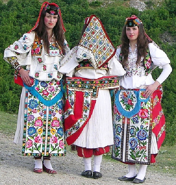 Albanian costume from Has,Kosovo http://www.travelbrochures.org/5/europa/albanian-travel-guide