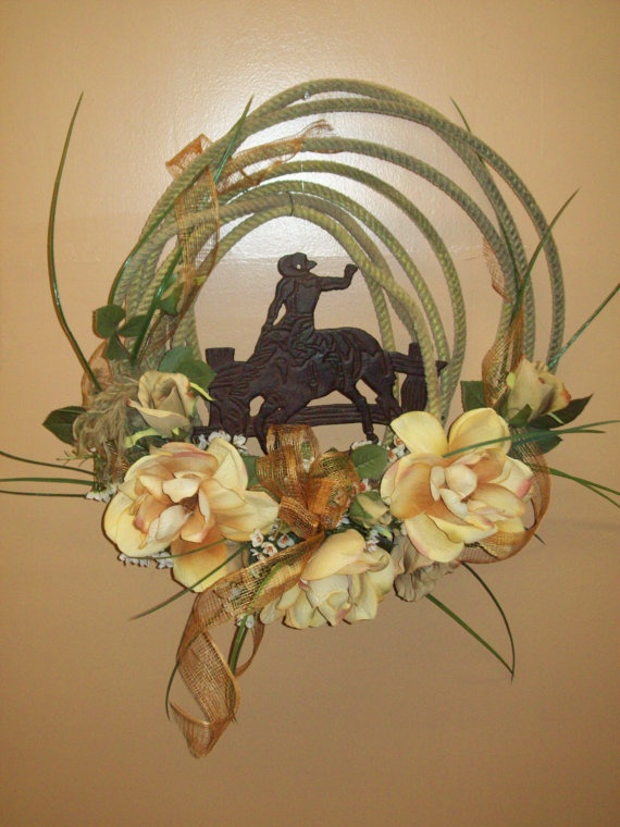 All Tied Up Wreath by CreativeFlorists on Etsy, $60.00